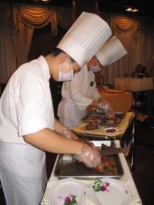 cuisiniers chinois en toque