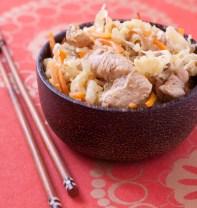 Photo de la recette : Poulet sauté au chou chinois, carottes et gingembre