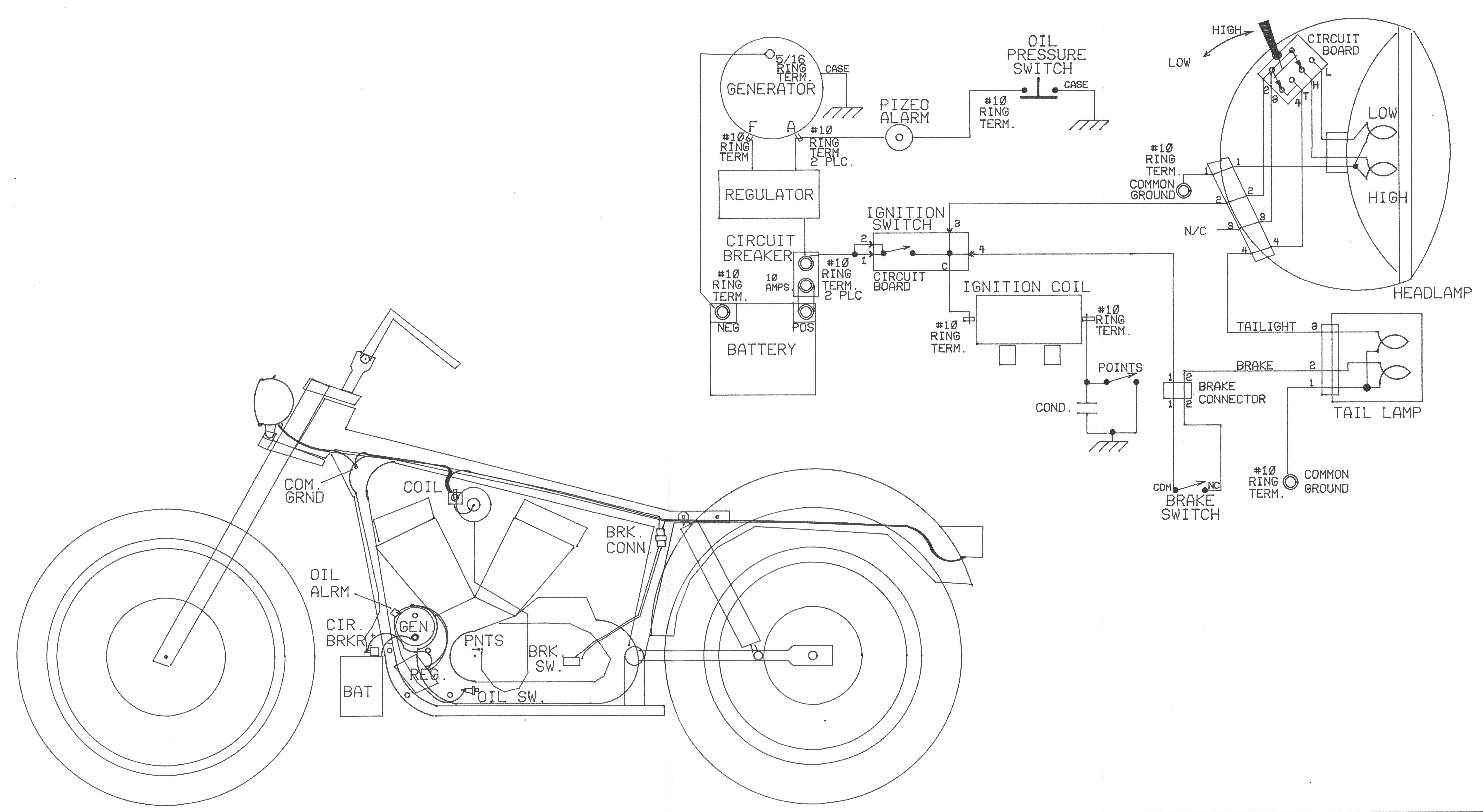 Sportster Frame Diagram Electrical Wiring Diagrams Wire Harness For A 73 Ironhead Harley Shovelhead Dimensions Allframes5 Org Windshield Example