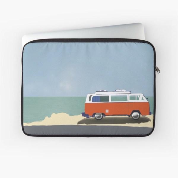 Road trip laptop sleeve open art