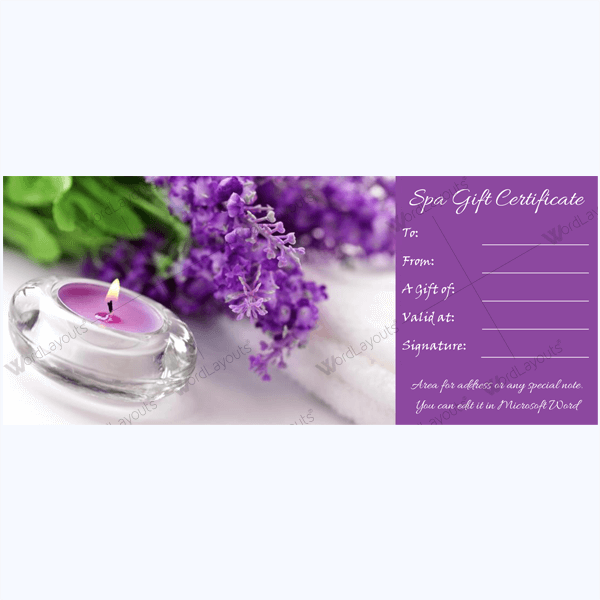 Spa Card Template