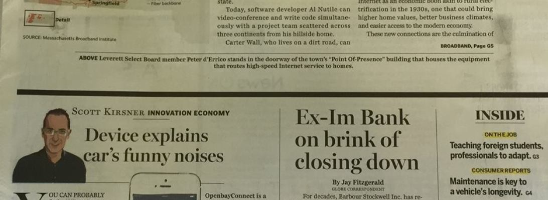Openbay Covered This Sundays Boston Globe Business Sectio