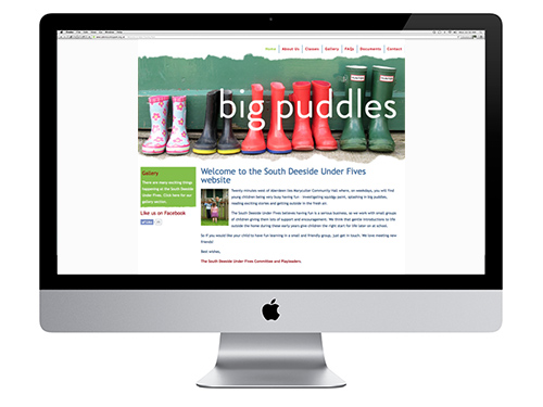 South Deeside Under Fives website