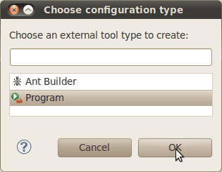 Choose builder type