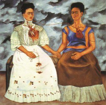 The Two Fridasby Frida Kahlo; Image credits: fridakahlo.org