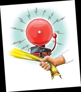 An illustration of Durga pani alarm Source: newindianexpress