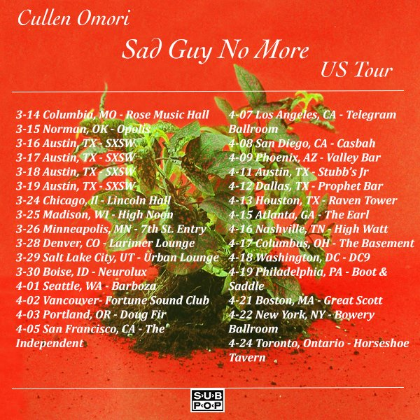 Cullen Omori Tour Dates