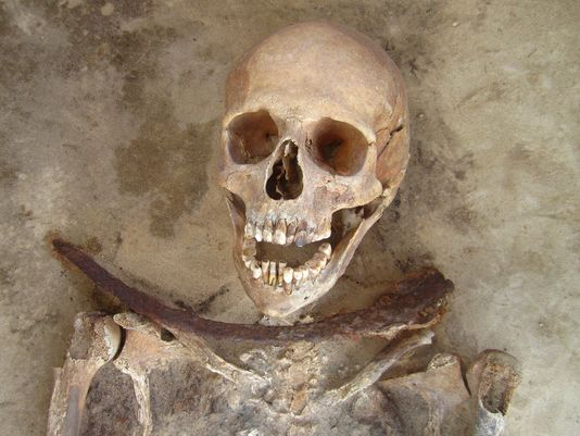 Vampire burial in Poland
