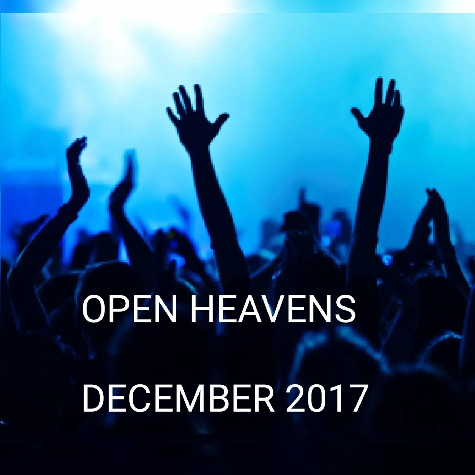 Open heaven December 2017