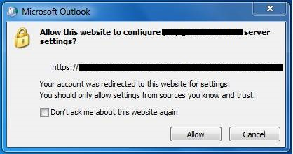 Profil outlook AutoDiscover pour migration Exchange vers Office 365