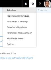 gestion des absences réponse automatique Outlook Exchange