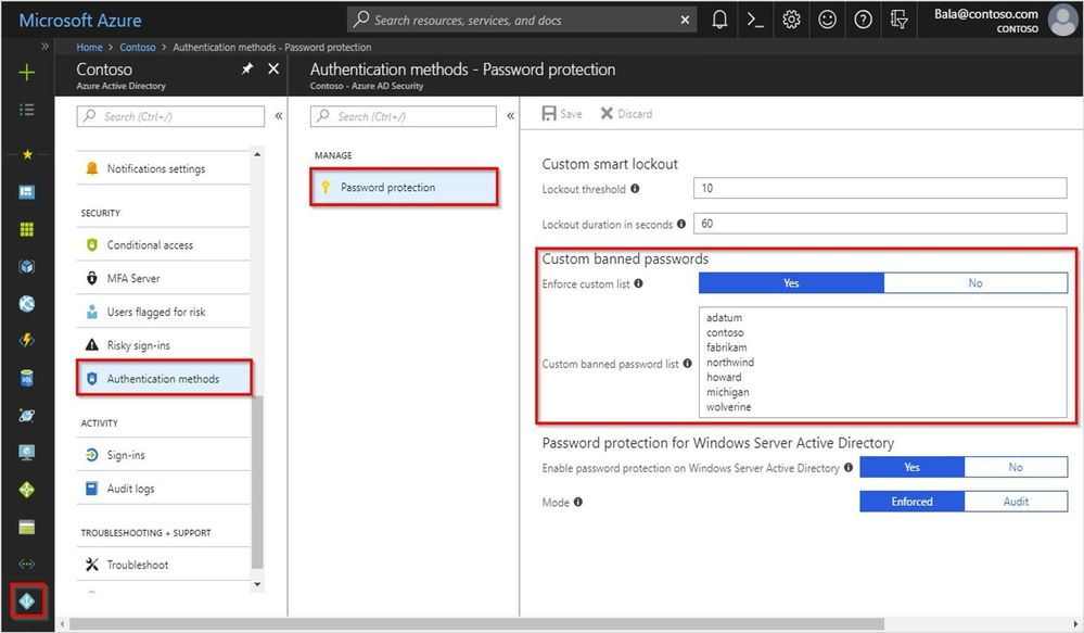 Azure AD Password Protection Office 365