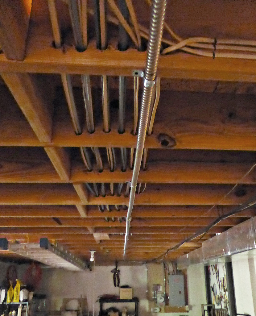 how to run electrical wire through ceiling joists www lightneasy net rh lightneasy net Ceiling Joist Construction Metal Ceiling Joists