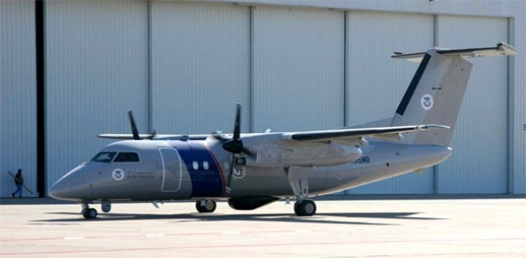 A U.S. Customs and Border Protection Bombardier DHC-8Q200. (Credit: U.S. Customs and Border Protection)