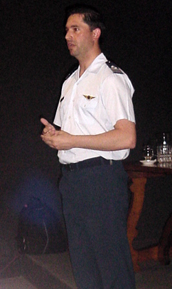 Captain Mariano Mohaupt, press spokesman of the Argentinean Air Force, who presided at CIFA's launching ceremony. (Image credit: AAF)