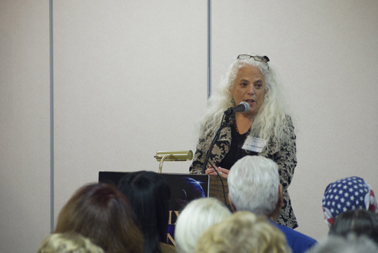 Carol Rosin speaking for Phoenix MUFON