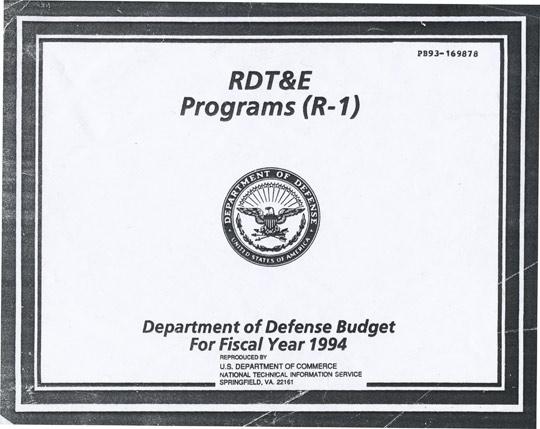 Department of Defense Budget 1994