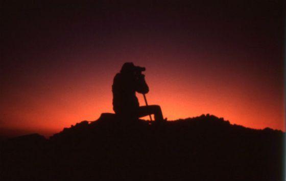 Skywatching on Carleton moor. (Credit: Dave Atkins)