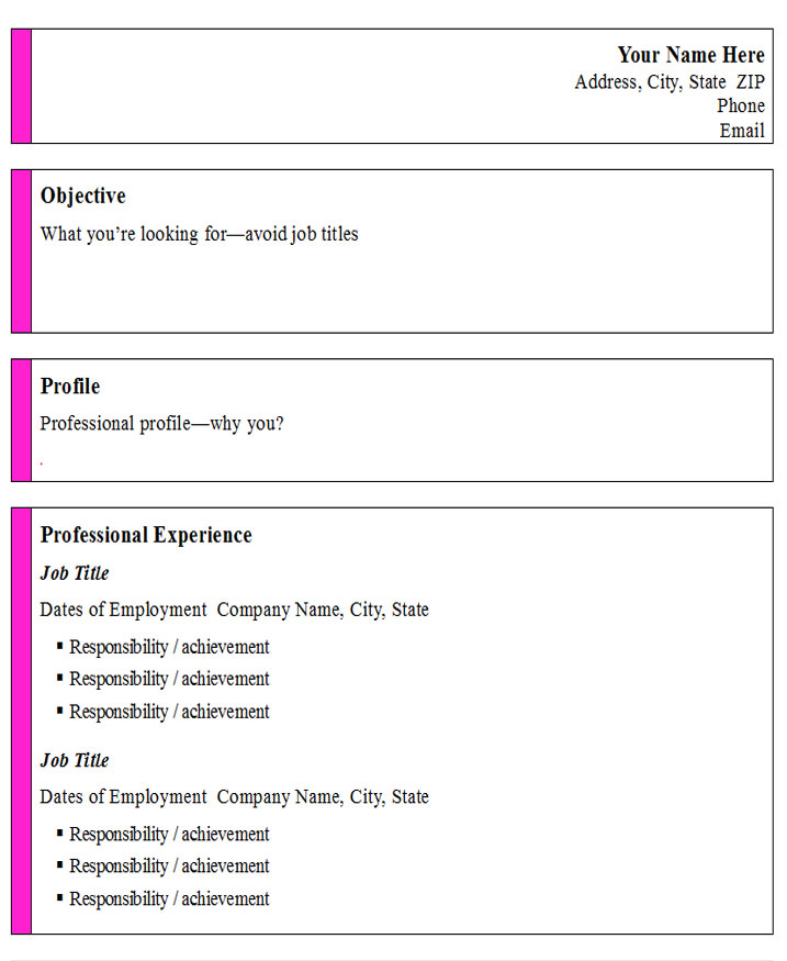 informal professional template open templates