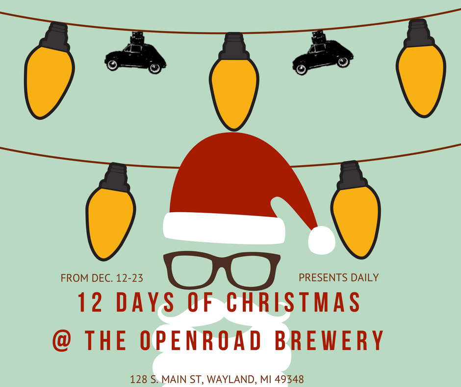 12 days of christmas at openroad brewery