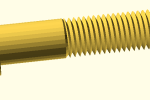 Thumbnail for the post titled: nutsnbolts – OpenSCAD Library
