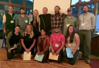 Jumping Mouse award recipients at Wilderness Therapy Symposium.