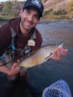 Sam Verutti, adolescent boys therapist, enjoys fly fishing in his off time.