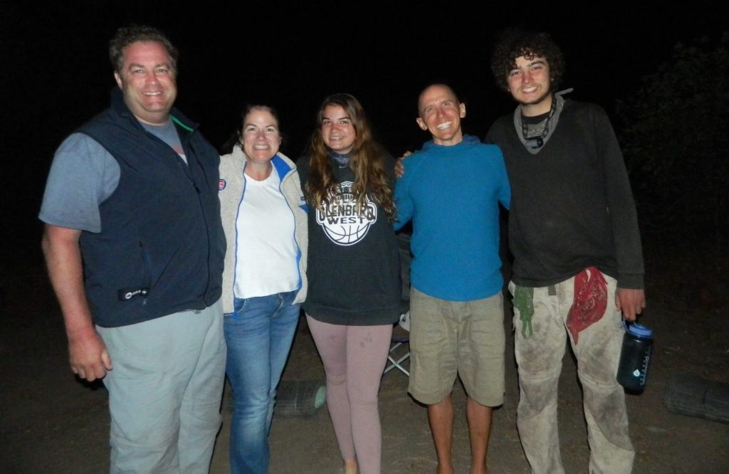 Katie M. with her family and therapist Jonathan Mitchell during Family Quest.