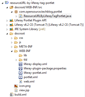 Project Structure to create resource URL by liferay-portlet:resourceURL