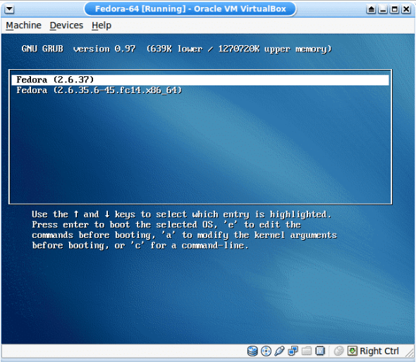 Newly compiled kernel in the GRUB menu
