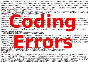 Dealing with coding errors