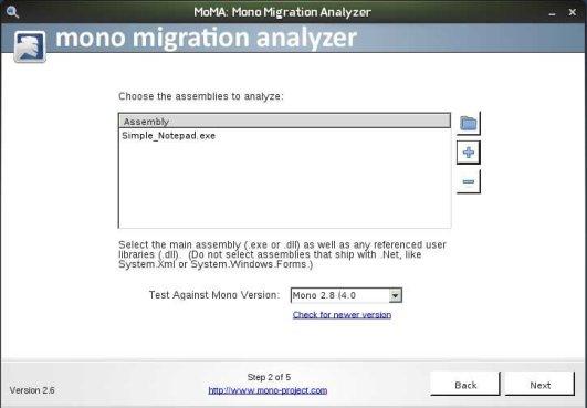 Mono Migration Analyzer Wizard