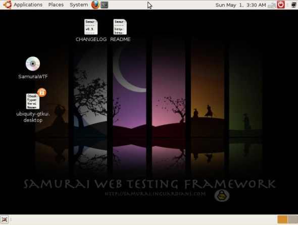 The Samurai WTF desktop