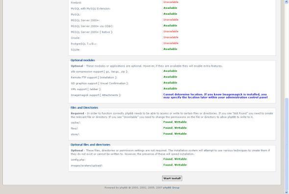 Installation requirements checklist