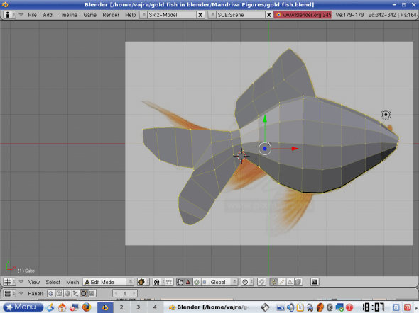 Tail extruded