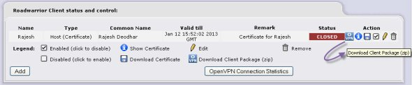 Download VPN certificates