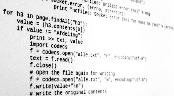 Availability of source code