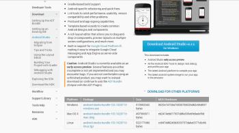 Figure 1 - Download Android Studio