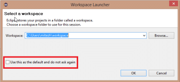 Figure 3 Workspace Launcher