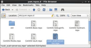 Figure 5 Scalr repository