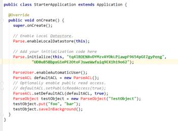 Figure 15: StarterApplication.java code