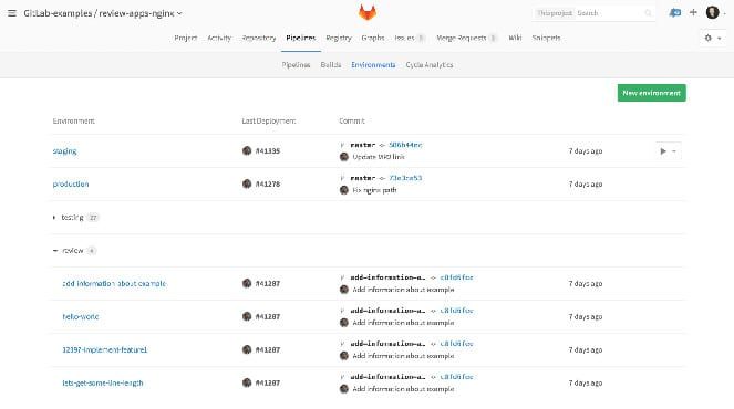GitLab review apps