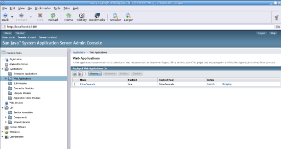 Figure 6: A local application deployment on the app server