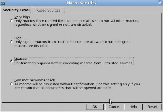 Figure 6: Security manager