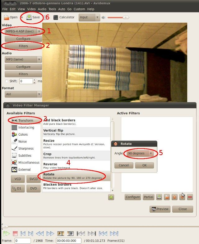 Rotate a video with avidemux gtk opensource is better avidemux steps to rotate a video ccuart Choice Image