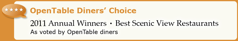 Top 50 Scenic View Restaurants - 2011 Diners' Choice Winners