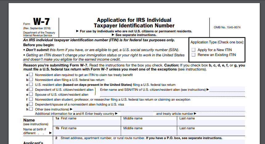 How to Obtain an ITIN Number   XCL Services