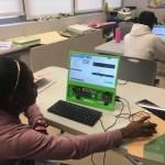 Kids using Sonic Pi to Music Program