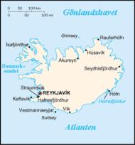 Islands karta