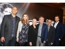 Shioban Dillon, Glenn Close, Andrew Lloyd Webber, Lonny Price och Michael Xavier - premiärkväll röda mattan Sunset Boulevard, Broadway